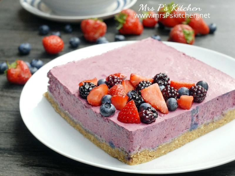雜莓慕絲凍餅【免烤箱】