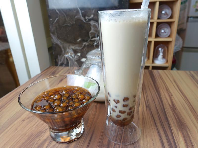波霸奶茶 珍珠奶茶+黑糖青蛙撞奶