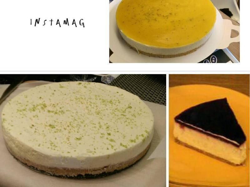 午茶時光~免烤檸檬水果乳酪蛋糕~