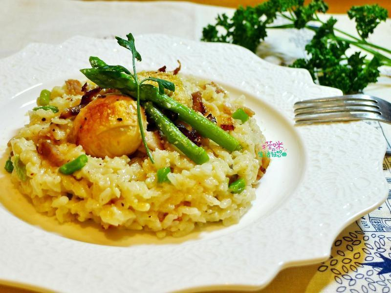 培根蘆筍菇菇燉飯【快鍋就用樂鍋史蒂娜】