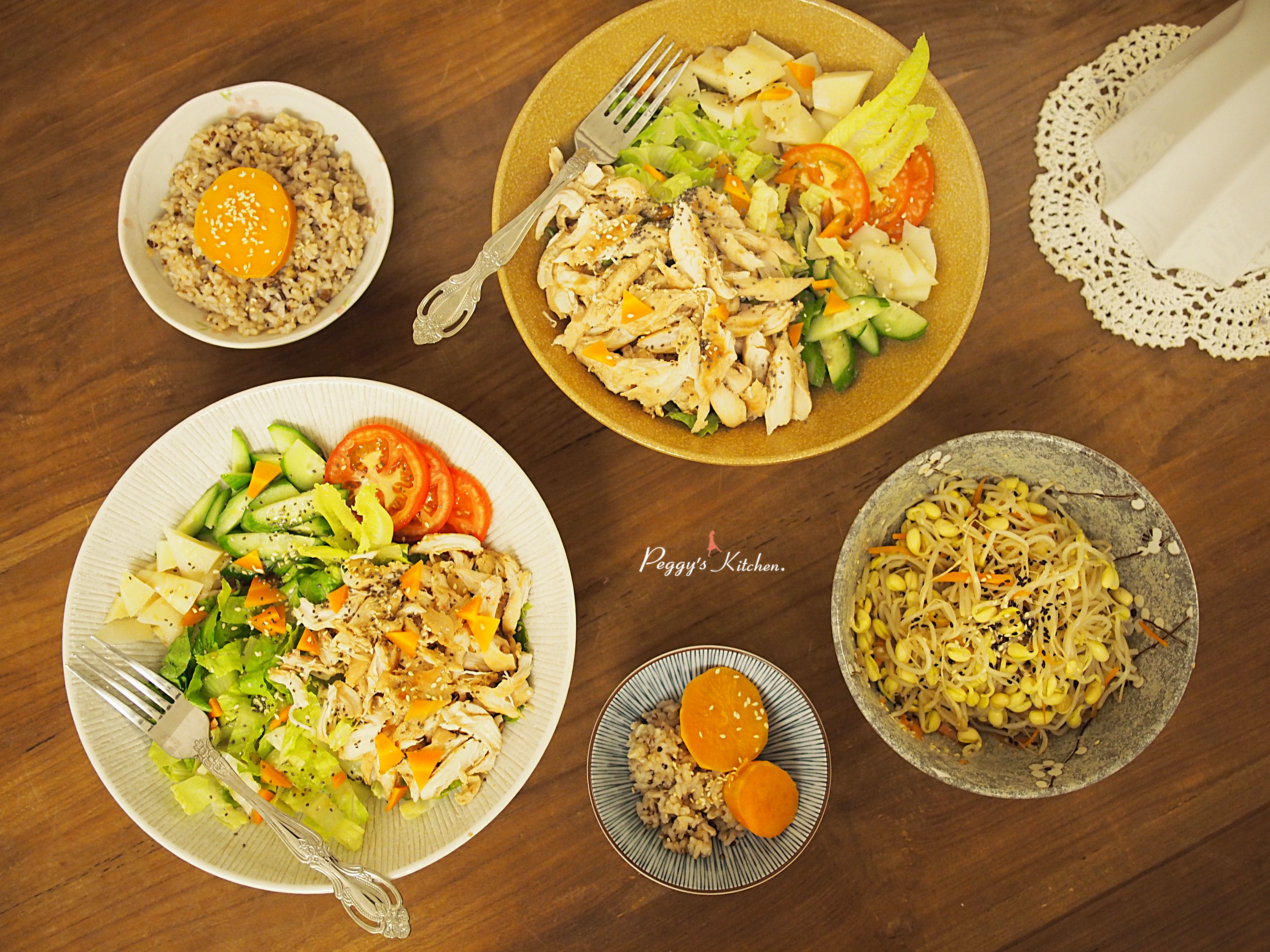 《Peggy廚房》香煎雞柳鮮蔬沙拉