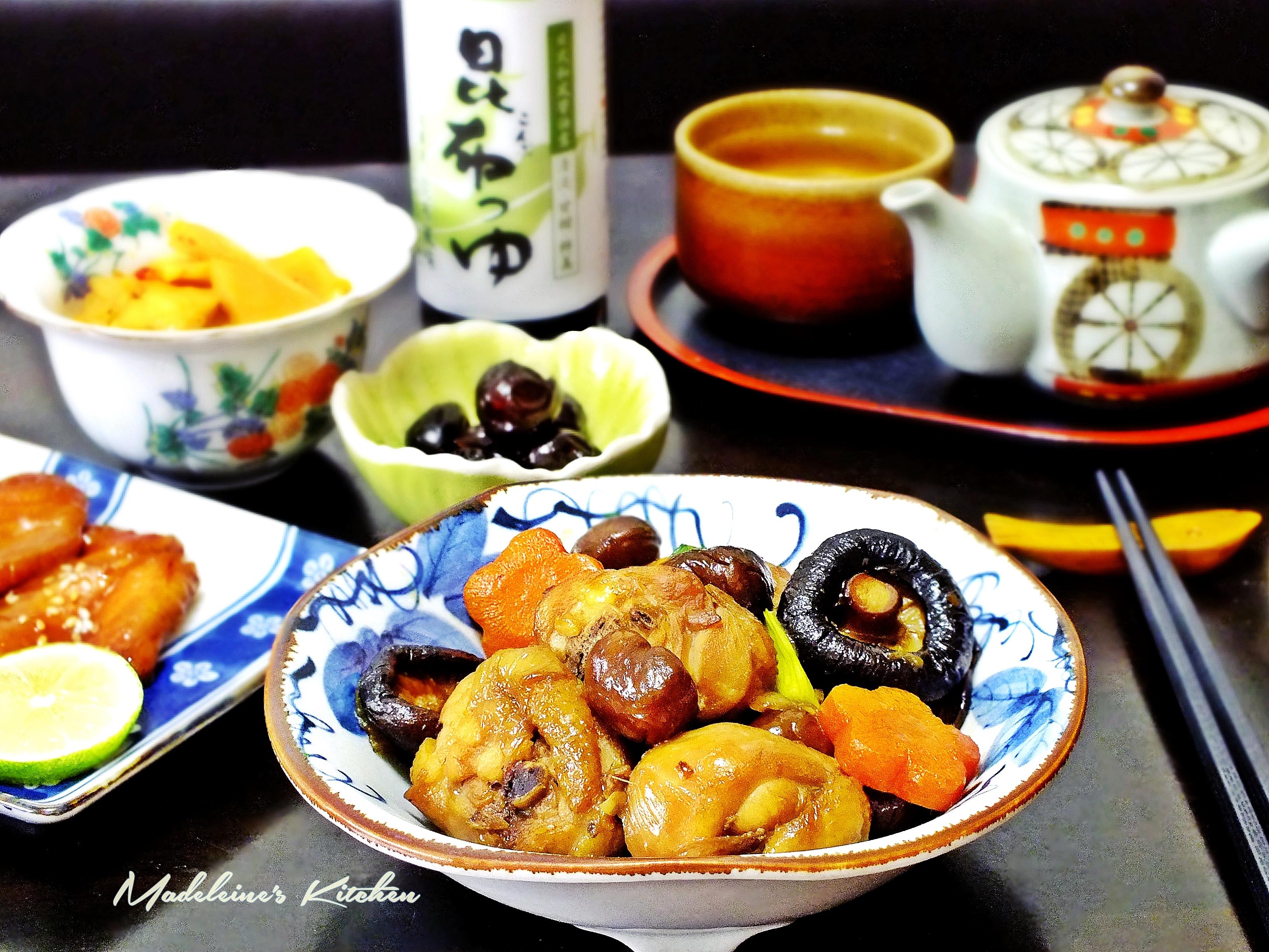 香菇栗子燒雞_淬釀懷石的秋季