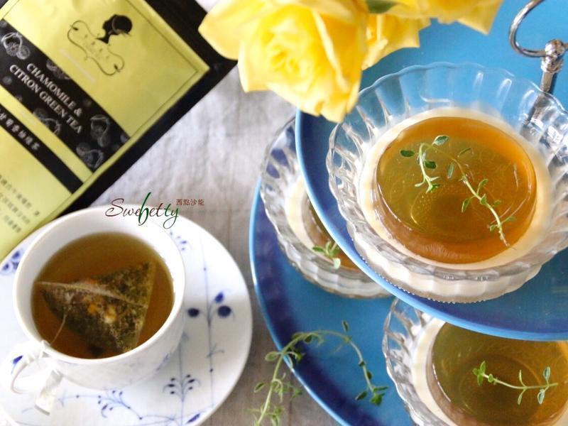 洋甘菊香柚綠茶凍佐蜂蜜優格醬【午茶夫人】