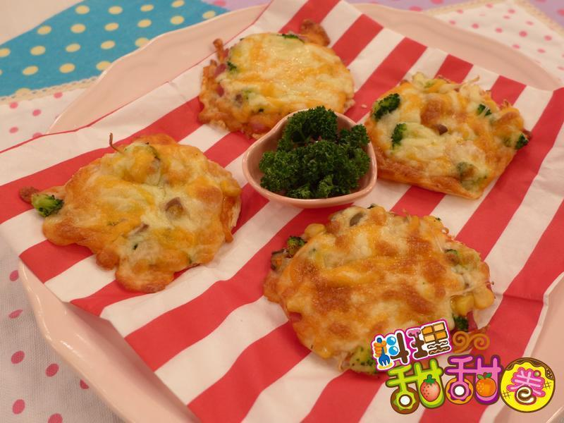 料理甜甜圈【菇菇料理】菇菇吐司披薩