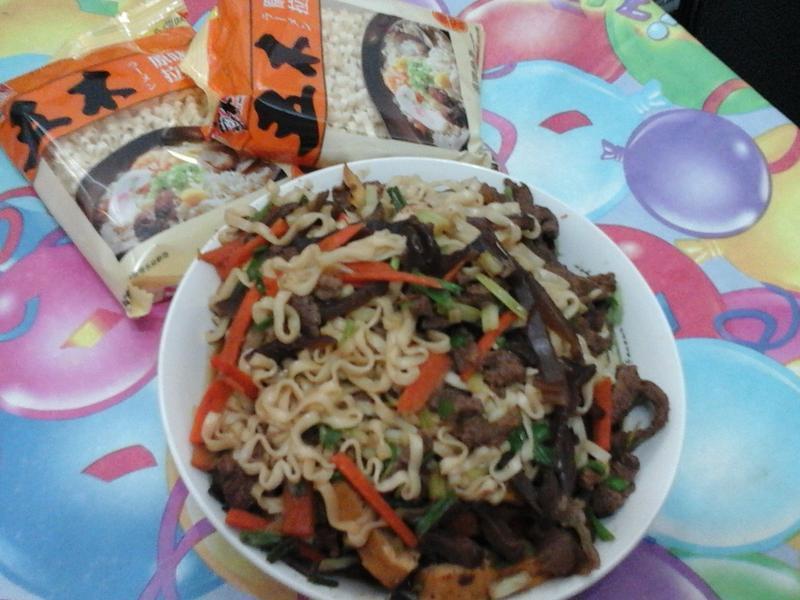 牛肉絲炒麵(五木拉麵)