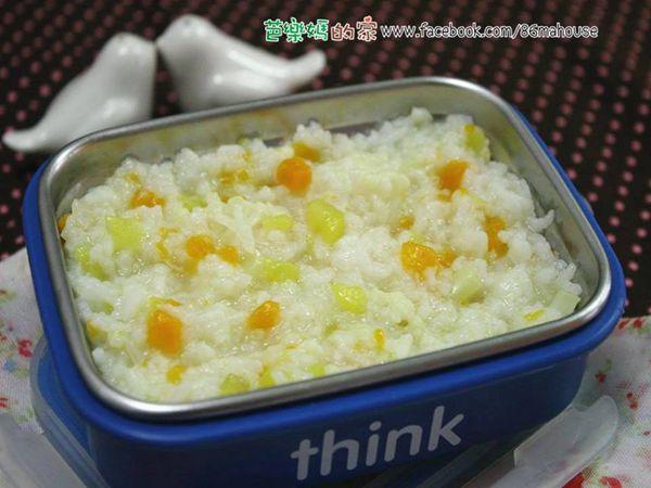 素食副食品分享-雙色地瓜粥