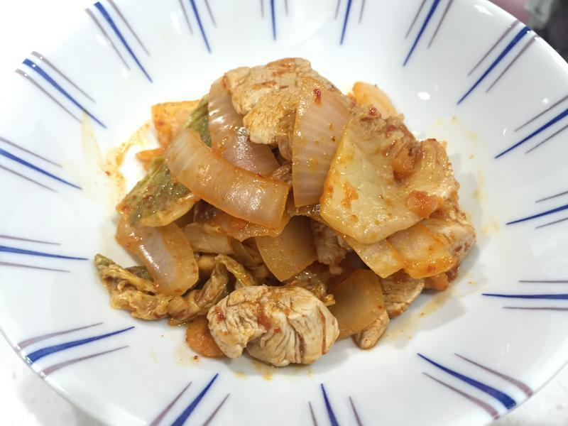 [減肥食譜] 低卡香辣!泡菜豬肉