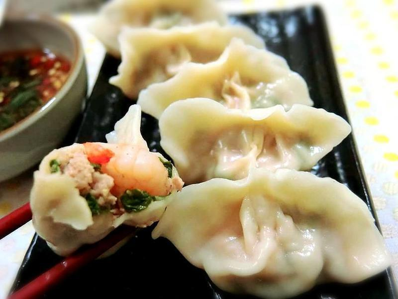 鮮蝦香菜水餃