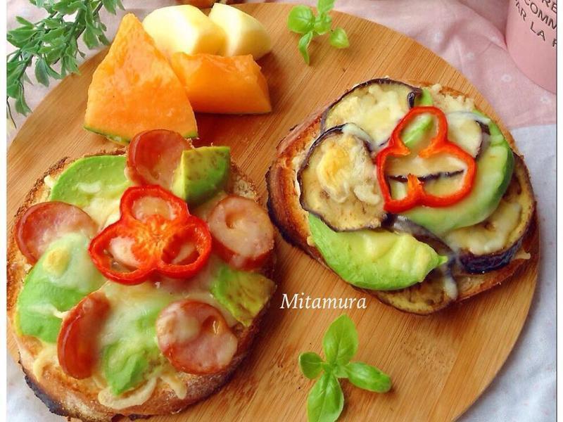 鮮蔬火腿焗烤厚片