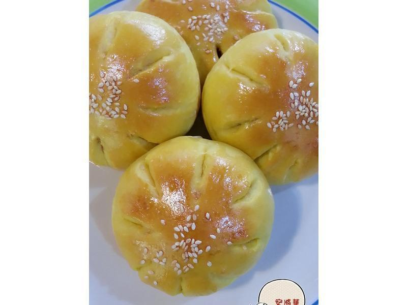 南瓜核桃紅豆包~湯種法