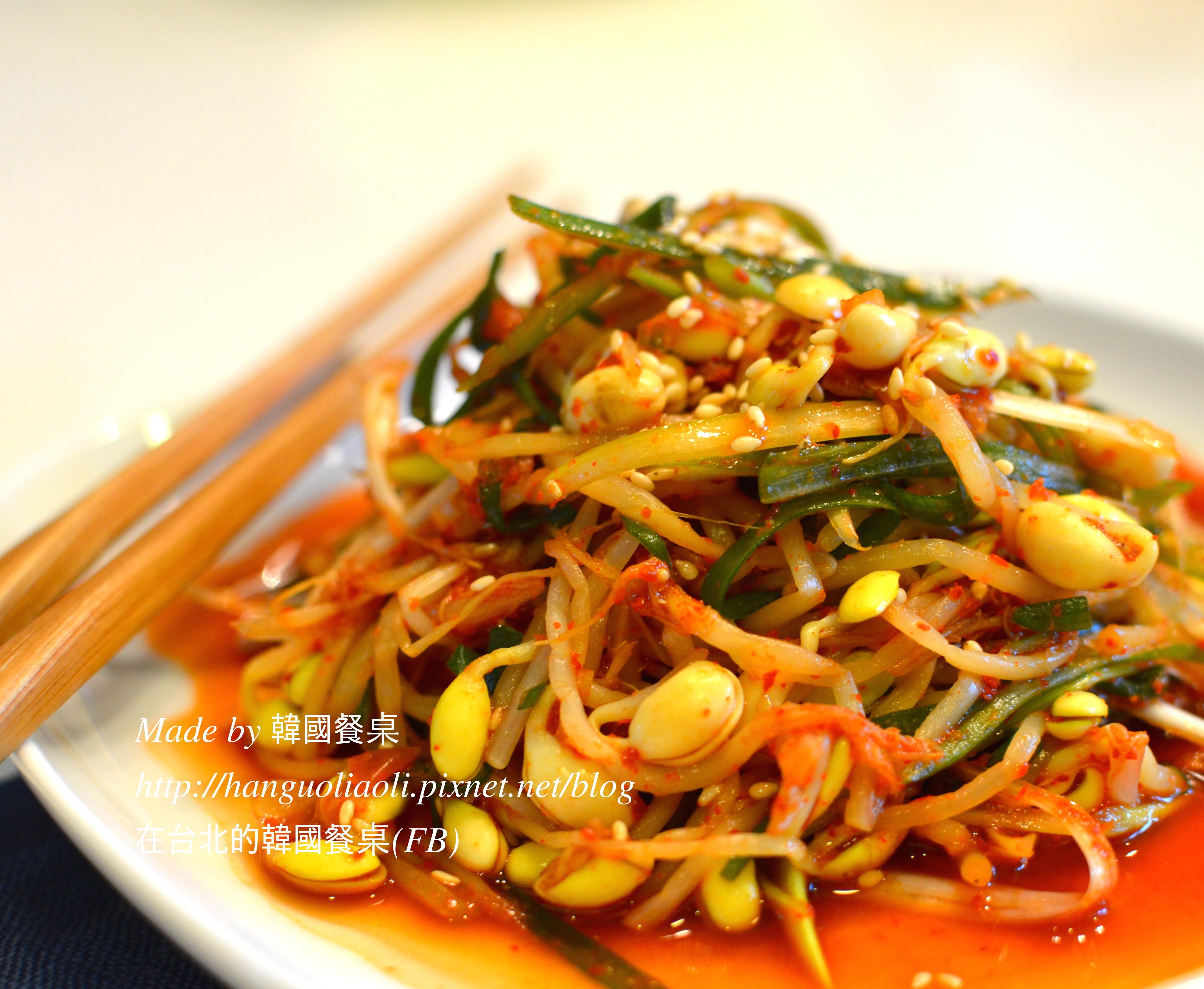 韓式涼拌黃豆芽蔥絲