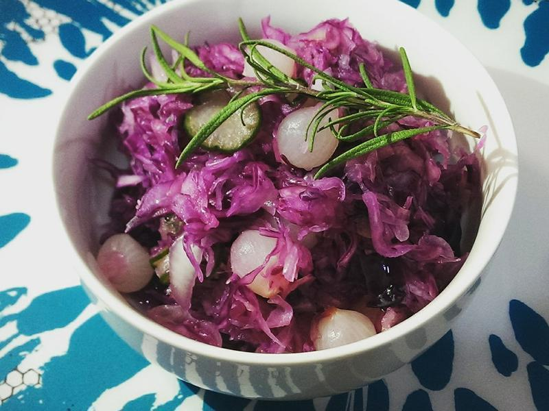 【小洋蔥紫高麗醃菜 】