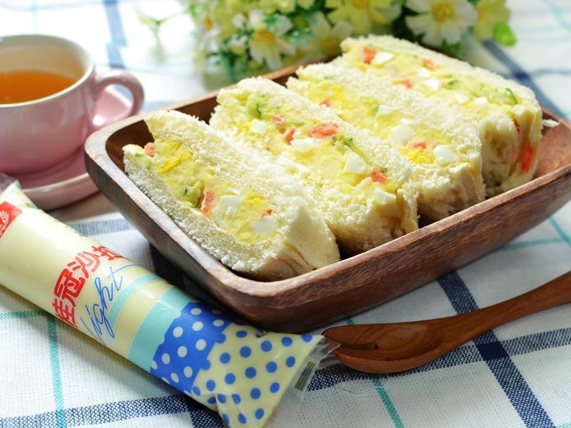 蛋沙拉口袋三明治【滿分早點×桂冠沙拉】