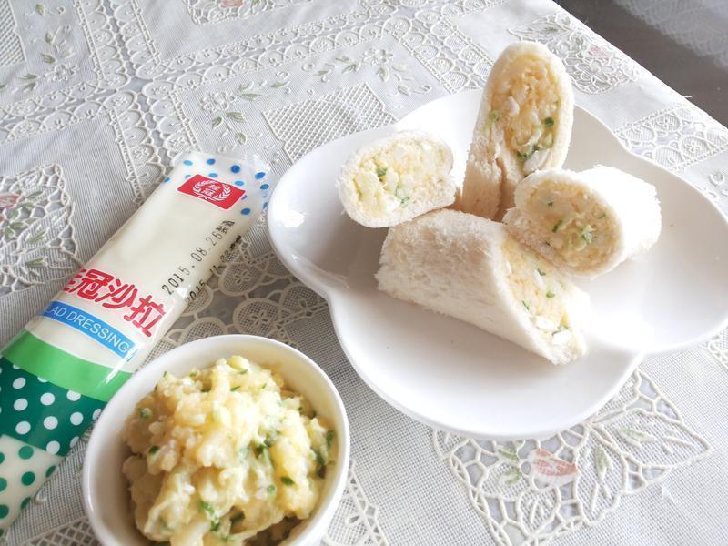 馬鈴薯金沙土司捲【滿分早點×桂冠沙拉】