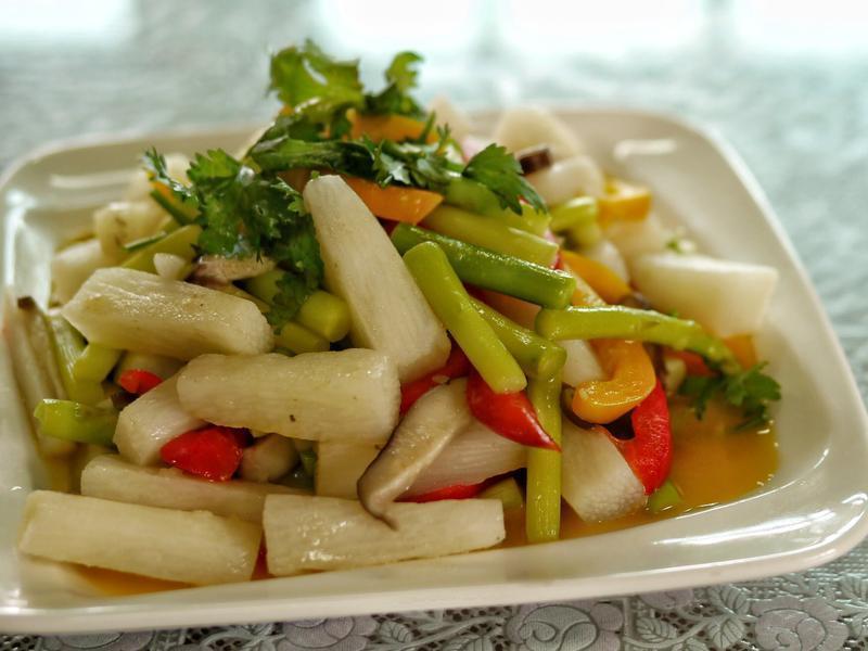 甜椒山藥煮蘆筍