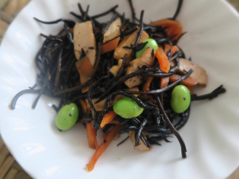 日本料理。海帶芽