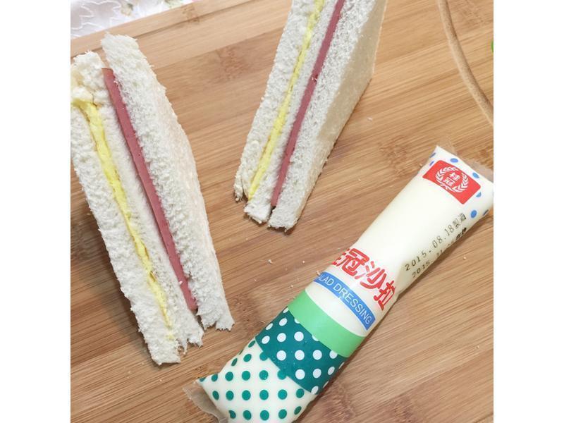 3分鐘~火腿三明治【滿分早點×桂冠沙拉】