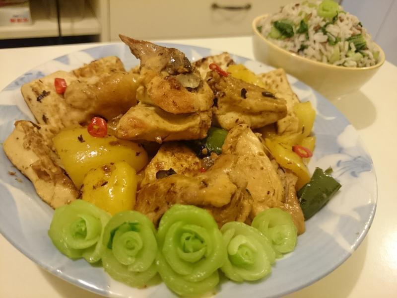 豉椒炆雞配菜飯