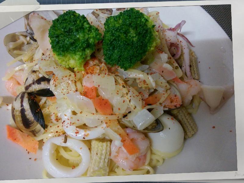 かにの白醬海鮮麵