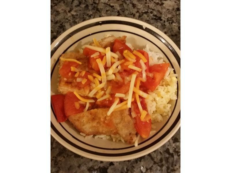 港式芝士番茄焗豬排飯