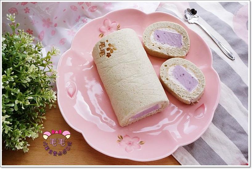 ♥毛毛♥紫薯(紫地瓜)奶凍蛋糕捲
