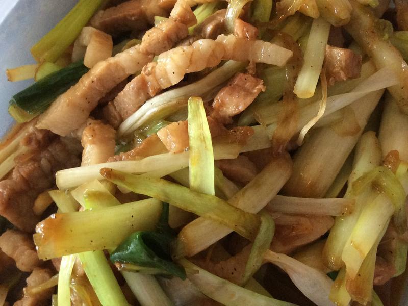 韭黃炒豬肉