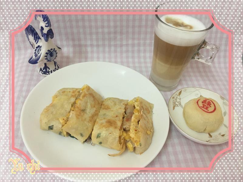 ma兒廚房~泡菜玉米雞肉蛋餅