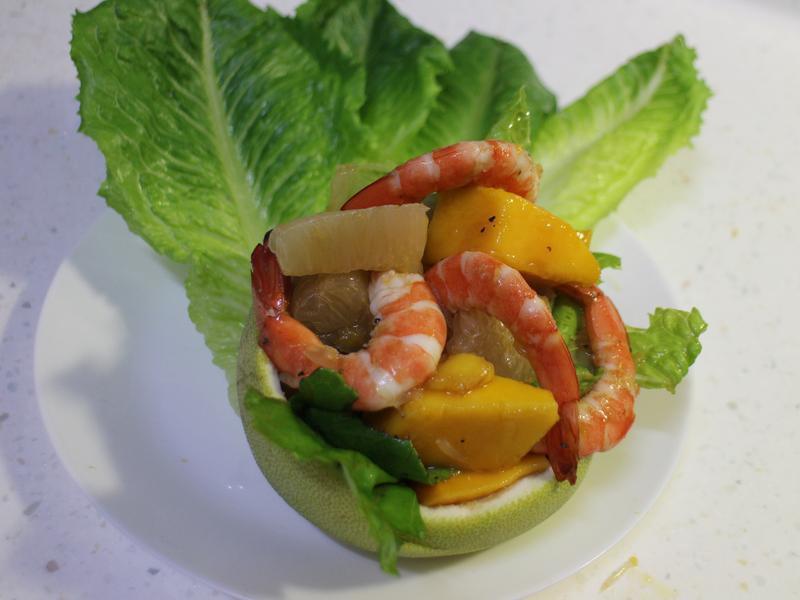 柚子鮮蝦盅