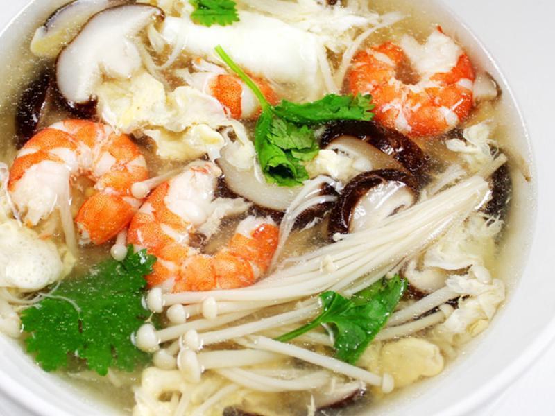 【厚生廚房】鮮蝦菇菇羹湯