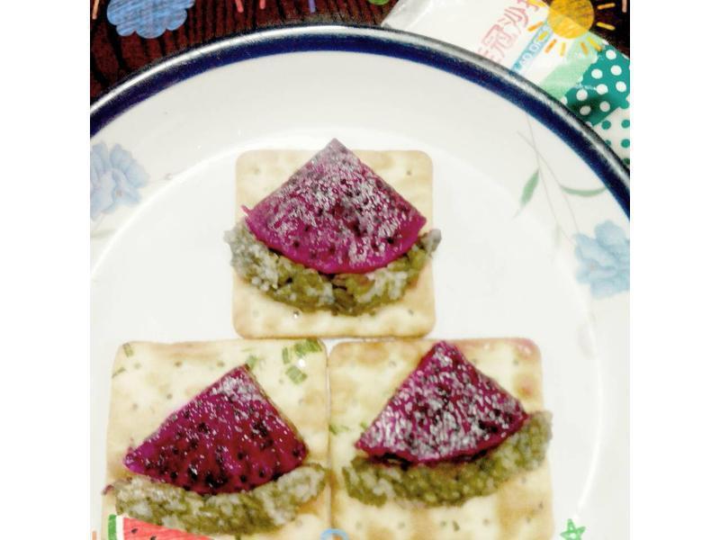 西瓜造型蔬菜蘇打餅乾(自然の顏餅乾趴)