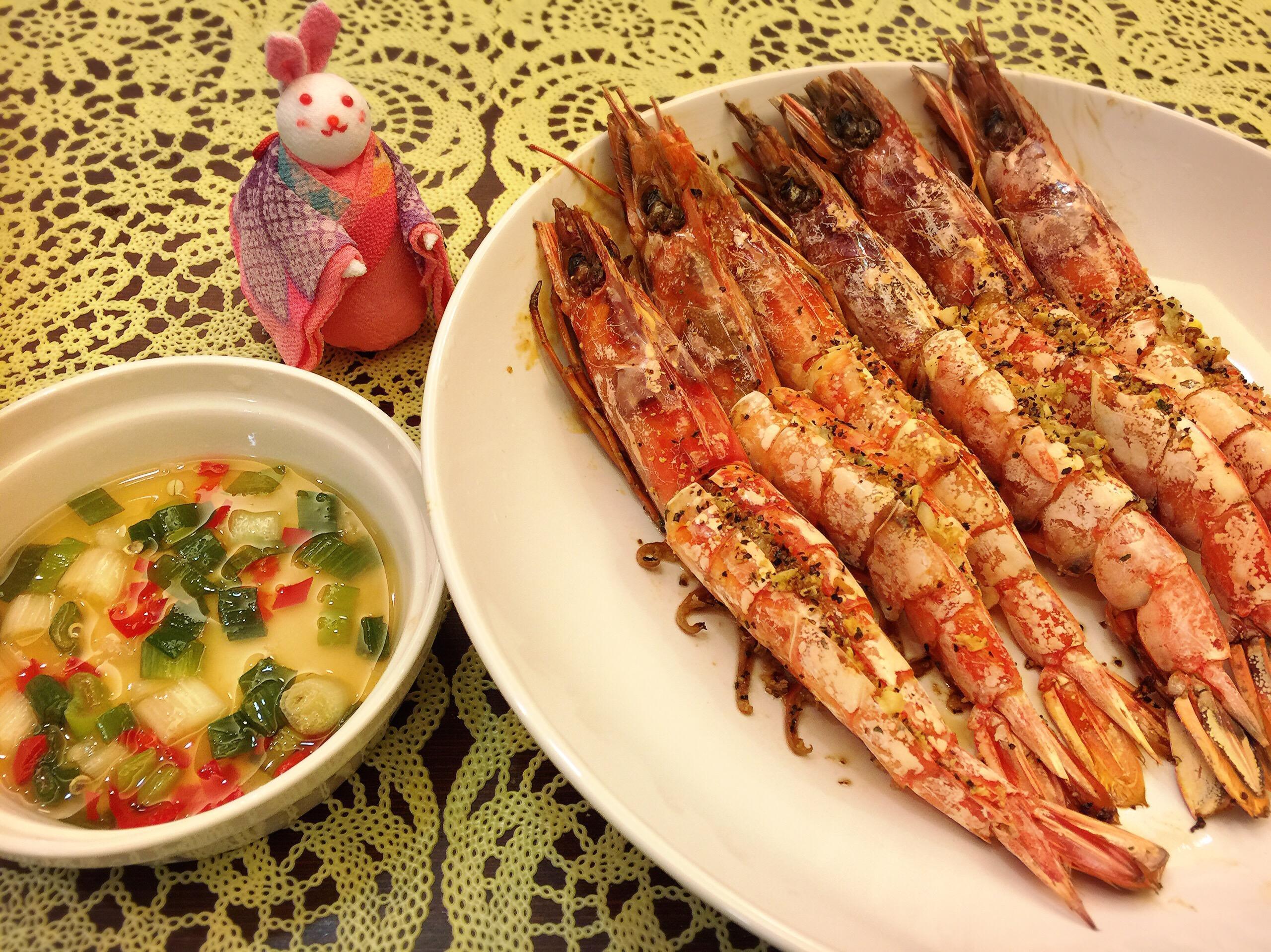 [烤箱版]蒜檸胡椒天使蝦