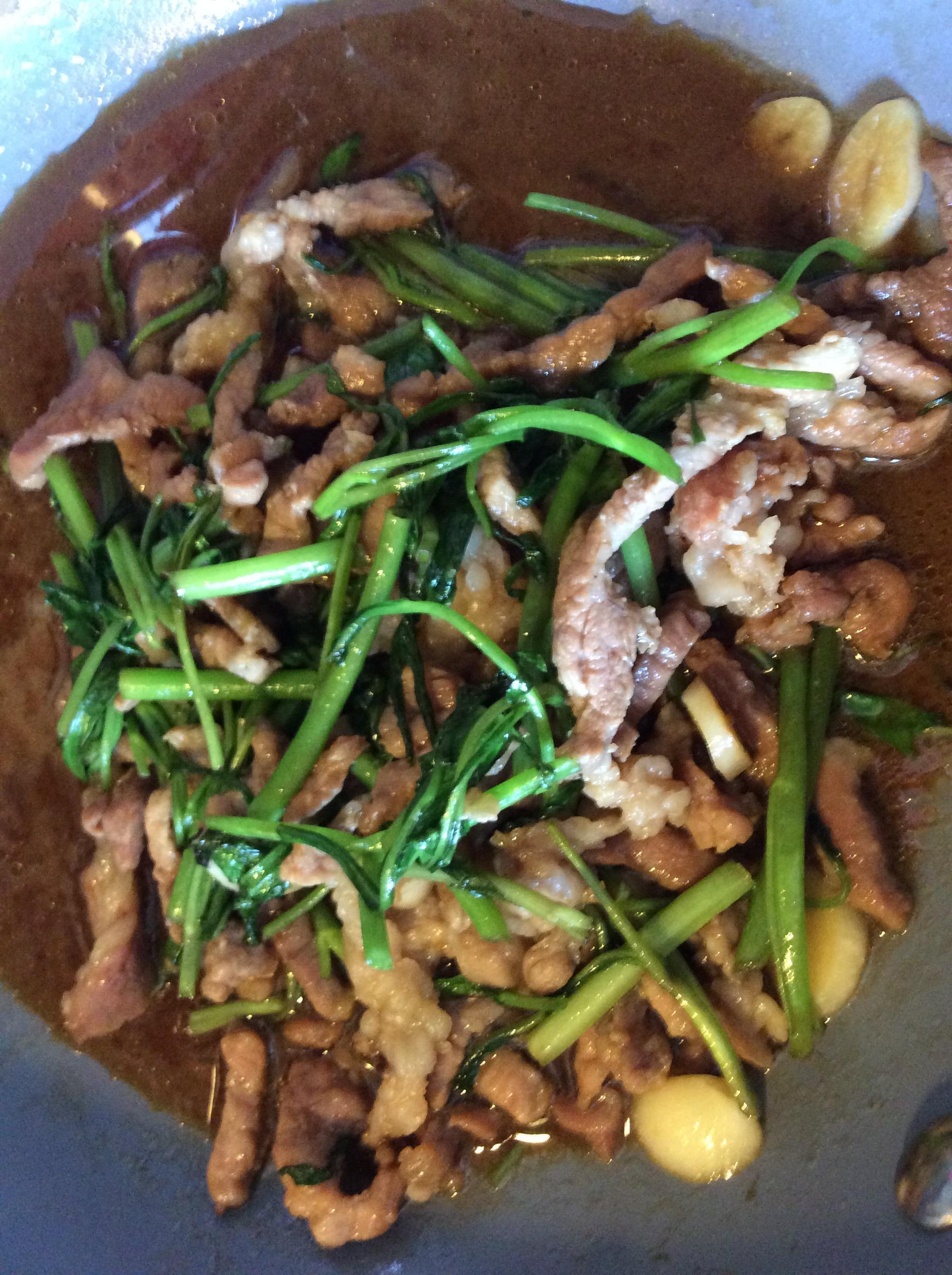 空心菜炒豬肉