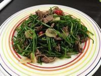 牛肉炒水蓮