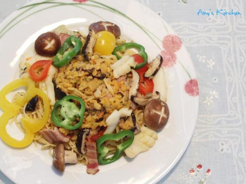 【鹿窯菇事】起士蕈菇風味培根鮮蔬義大利麵