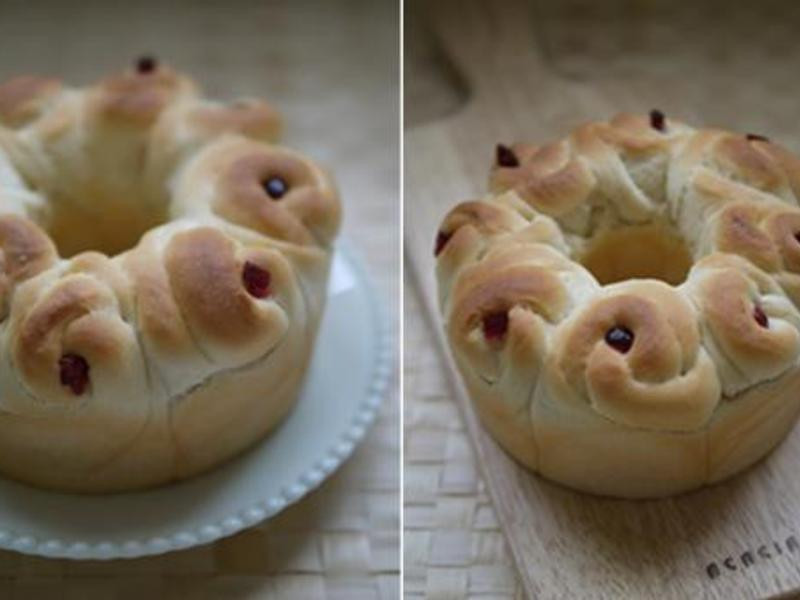 花式麵包。玫瑰皇冠麵包【冷藏液種法】