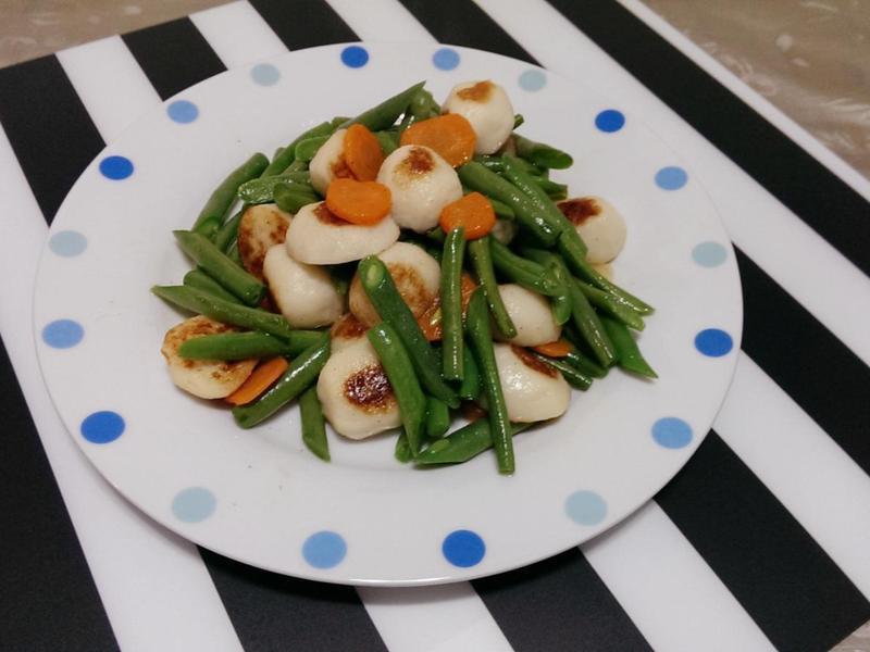 魚丸炒四季豆