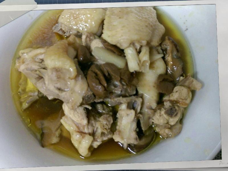 かにの黑蒜頭雞湯