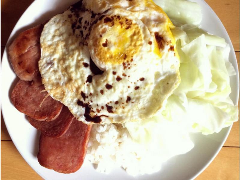 美味餐肉蛋飯