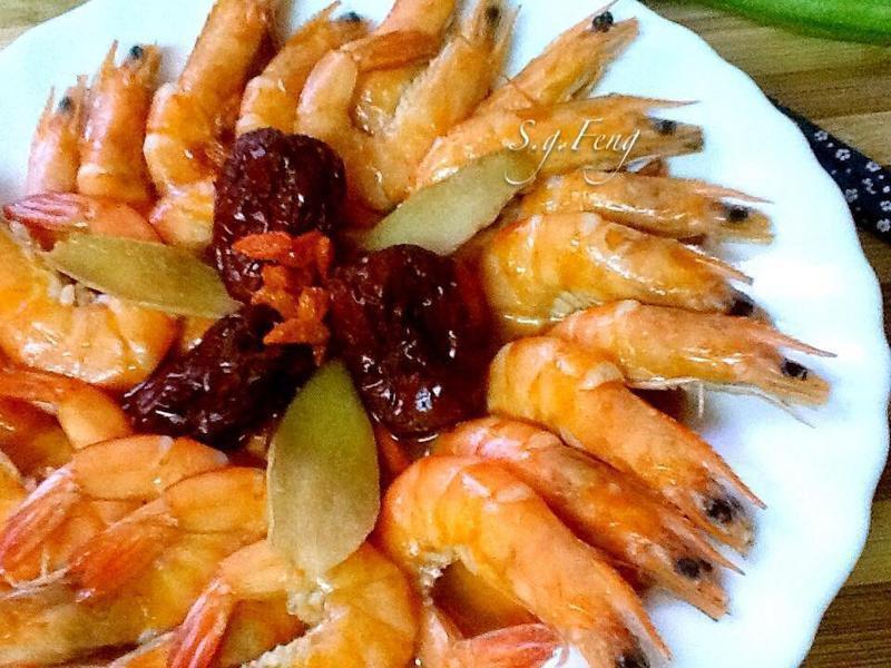 麻油紅棗枸杞蝦