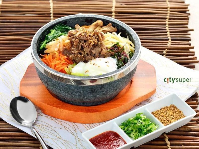 【韓國料理】溫泉蛋牛五花拌飯