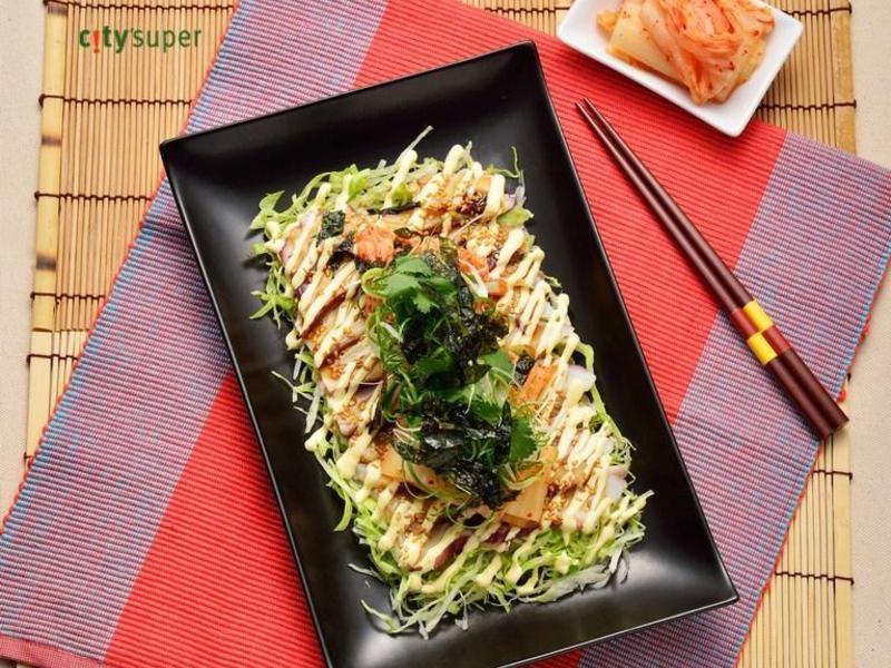 【韓國料理】章魚薄片佐泡菜美乃滋