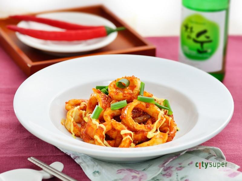 【韓國料理】韓式辣味噌炒魷魚