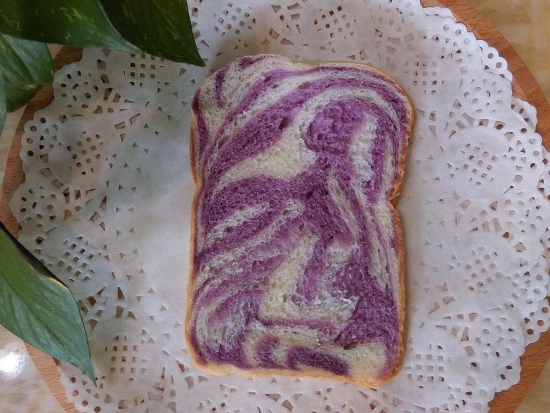 麵包機~紫薯優格雙色土司