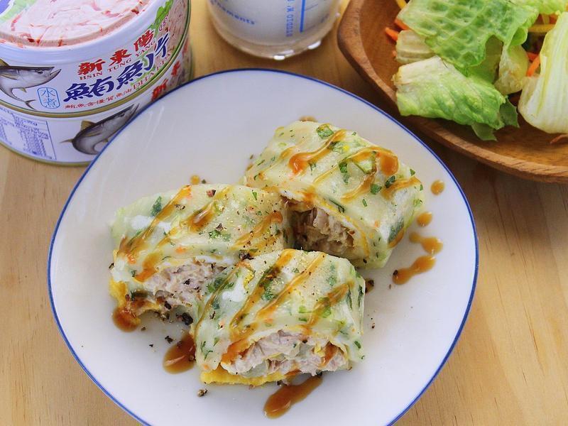 鮪魚起士蛋餅 [新東陽鮪魚片]