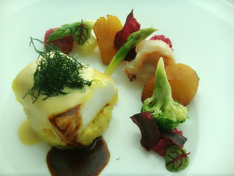 大西洋圓鱈襯海鮮燉飯