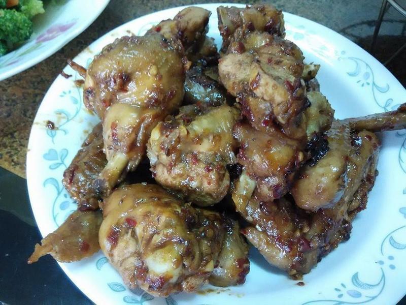 蒜香烤雞翅