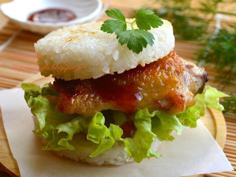 雞腿排米漢堡