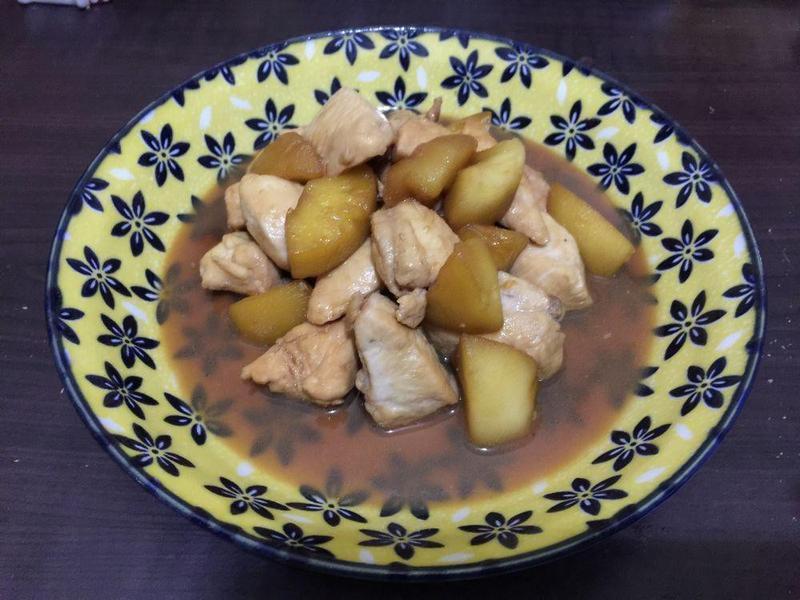 減肥食譜-照燒蘋果雞胸