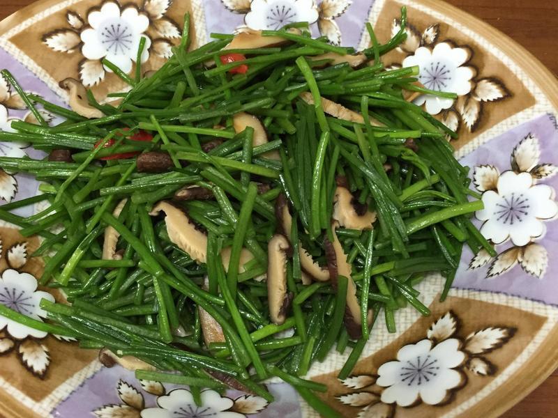 香菇炒水蓮菜