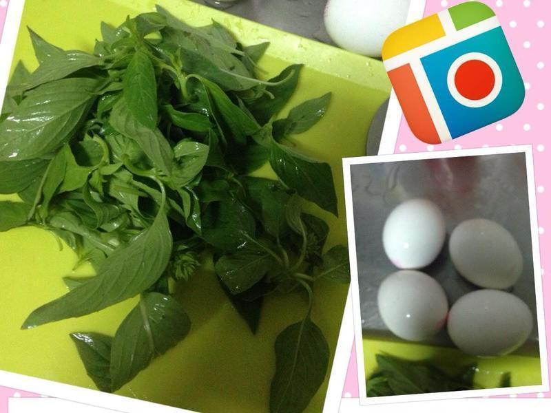 小氣料理~50元的銅版美食 九層塔炒蛋~